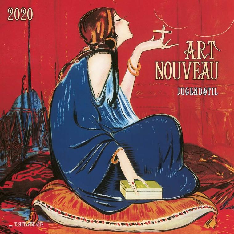 2020 Calendar featuring 12 images of Art Nouveau paintings