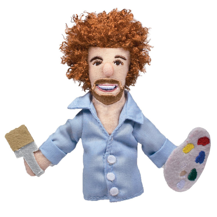 Equipped with his paint palette and a paint brush, Bob Ross is prepared to inspire you anytime, day or night.