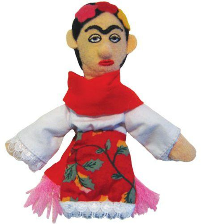 plush Frida Kahlo finger puppet magnet