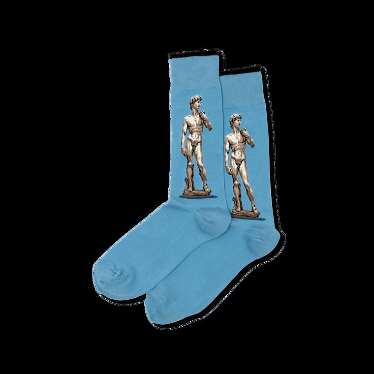 socks with image of Michelangelo's David