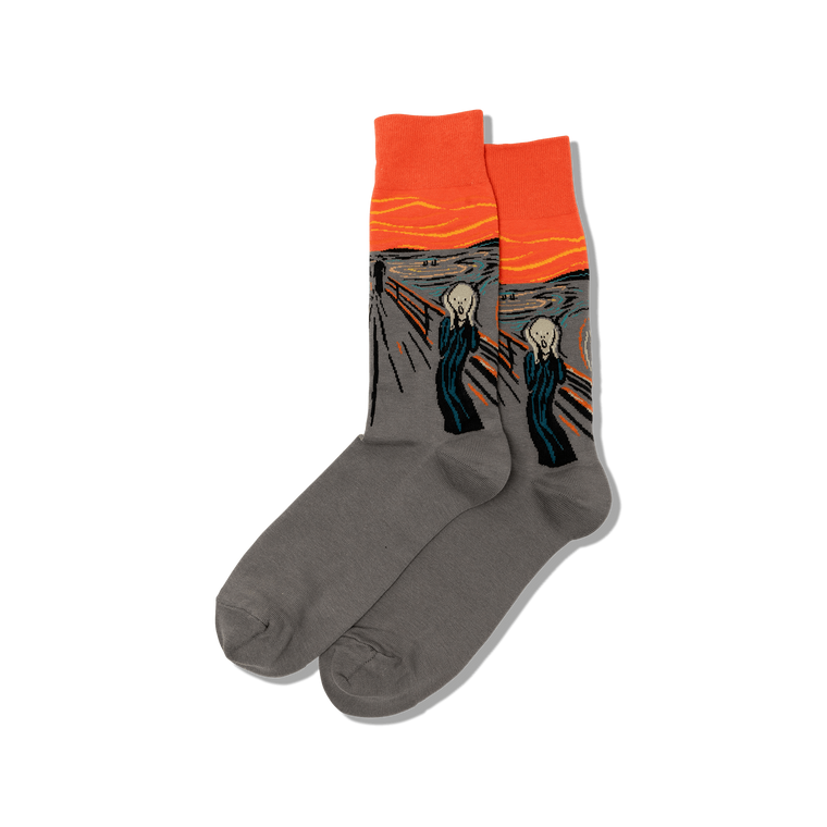 """socks featuring the painting """"The Scream"""""""