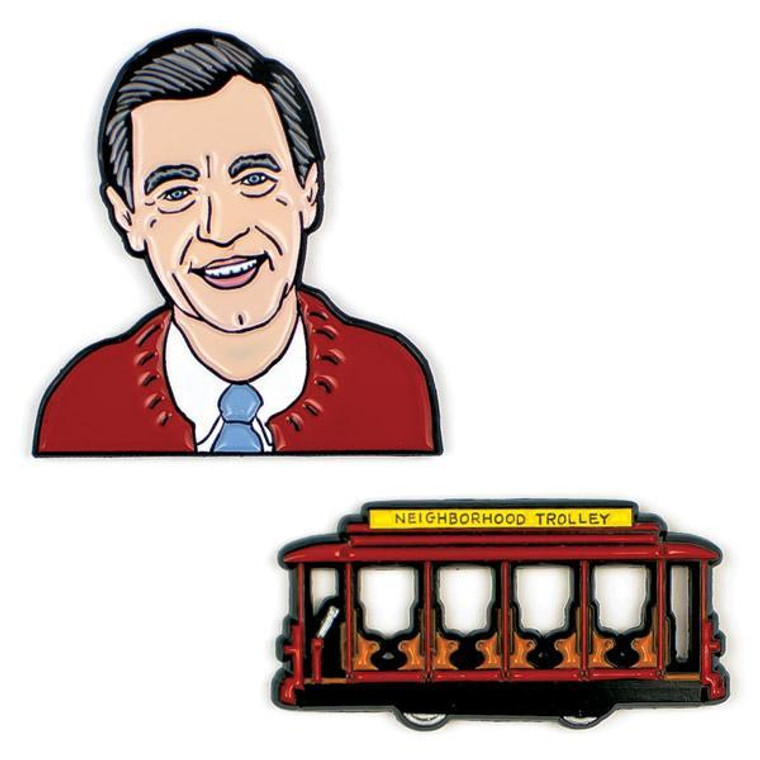 Mister Rogers and Neighborhood Trolley Enamel Pin Set