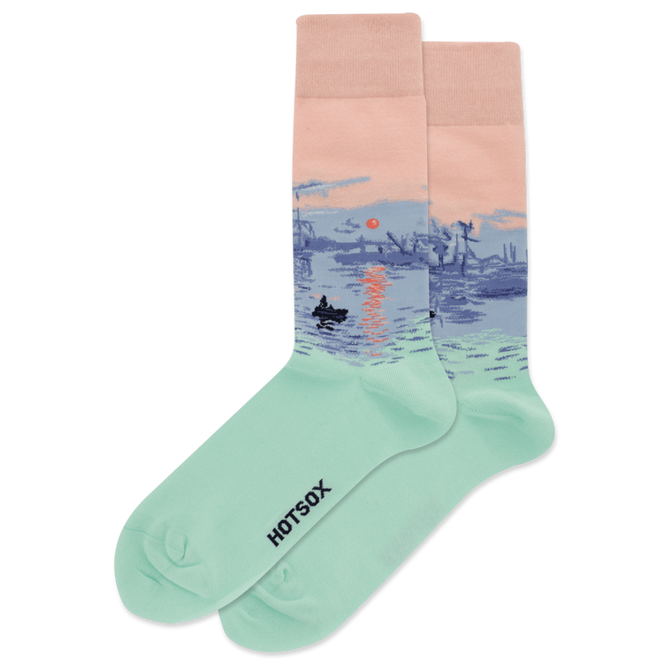 socks with image of Monet's painting of the houses of Parliament