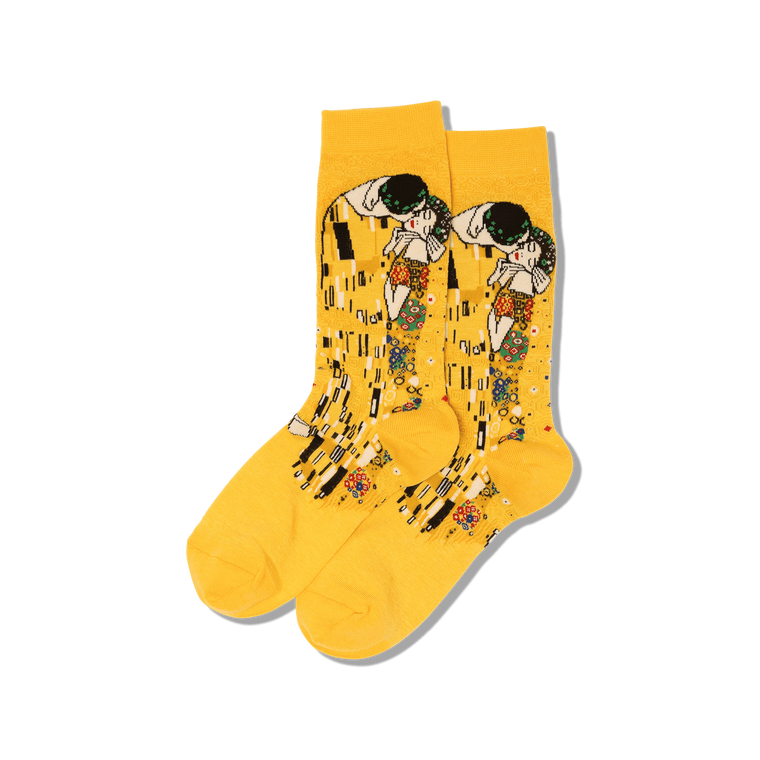 """socks with image of the painting """"The Kiss"""""""