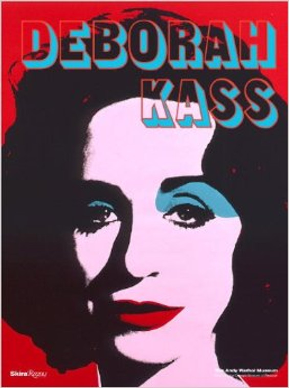 """A book cover with a Deb Kass Self Portrait in the style of Warhol's """"Red Liz""""."""