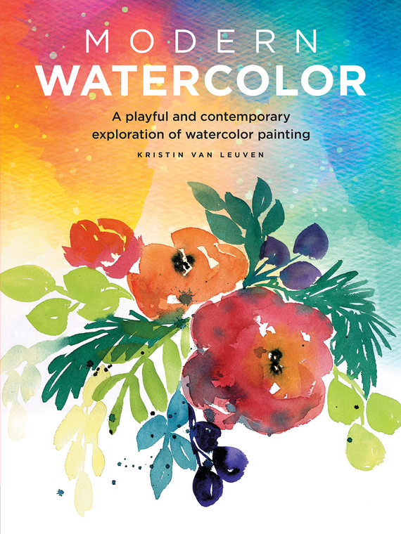 Paperback book about watercolor painting techniques. 128 pages