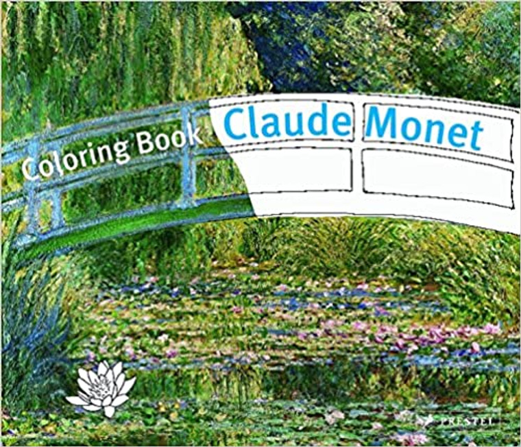 Paperback coloring book featuring the art of Claude Monet. 32 pages