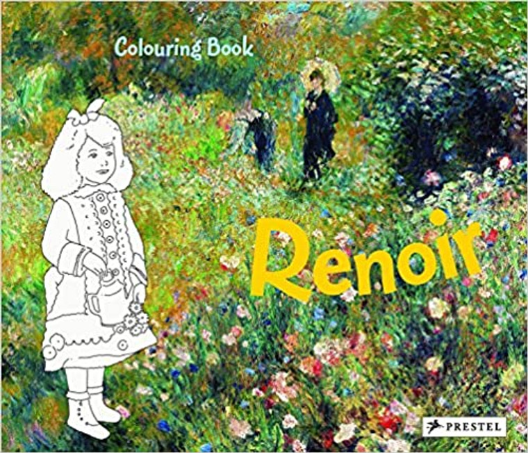Paperback coloring book featuring the art of Auguste Renoir. 32 pages