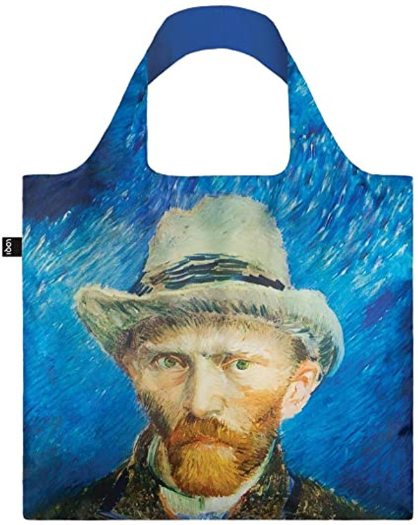 reusable nylon tote bag featuring a self-portrait by Van Gogh
