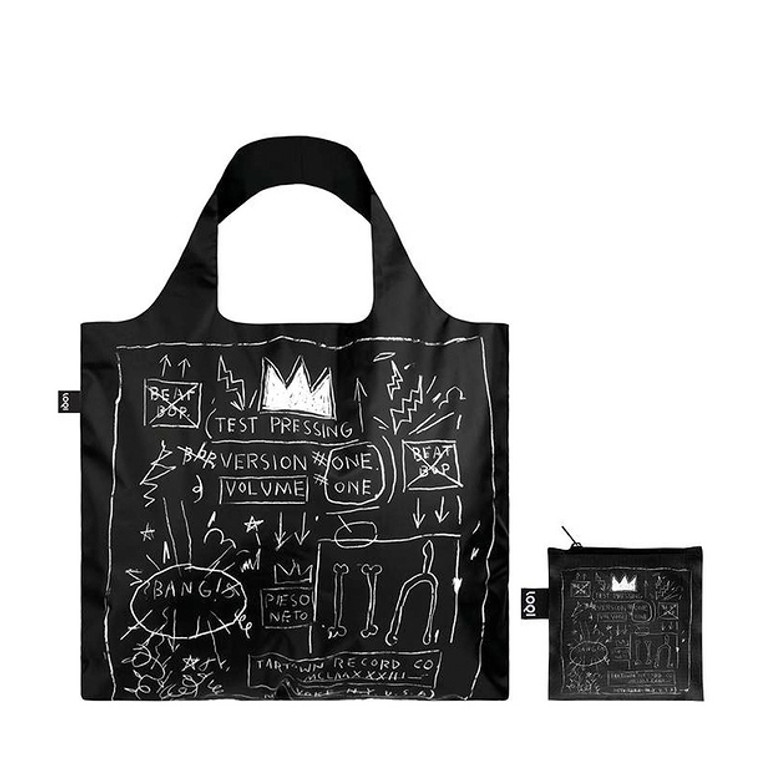 nylon tote bag featuring a paiting by Basquiat