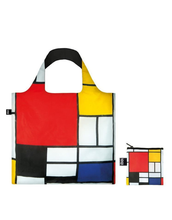 nylon tote bag featuring a painting my Piet Mondrian