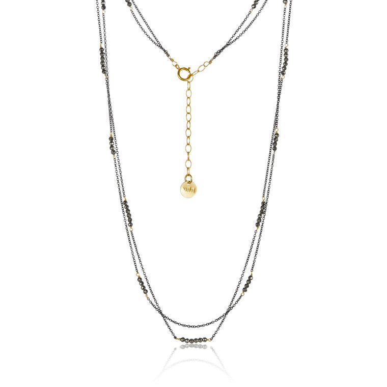 Double Strand Pyrite Necklace
