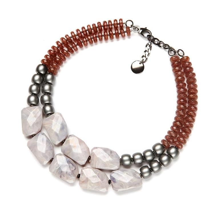 Franci Copper Resin Necklace