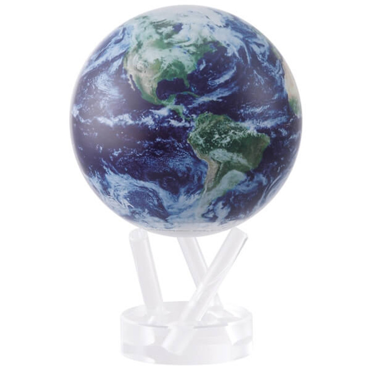 decorative globe with satellite image of the Earth