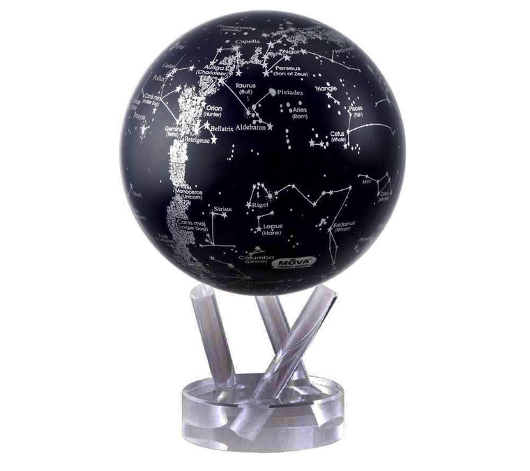 decorative globe featuring a star map with constellations