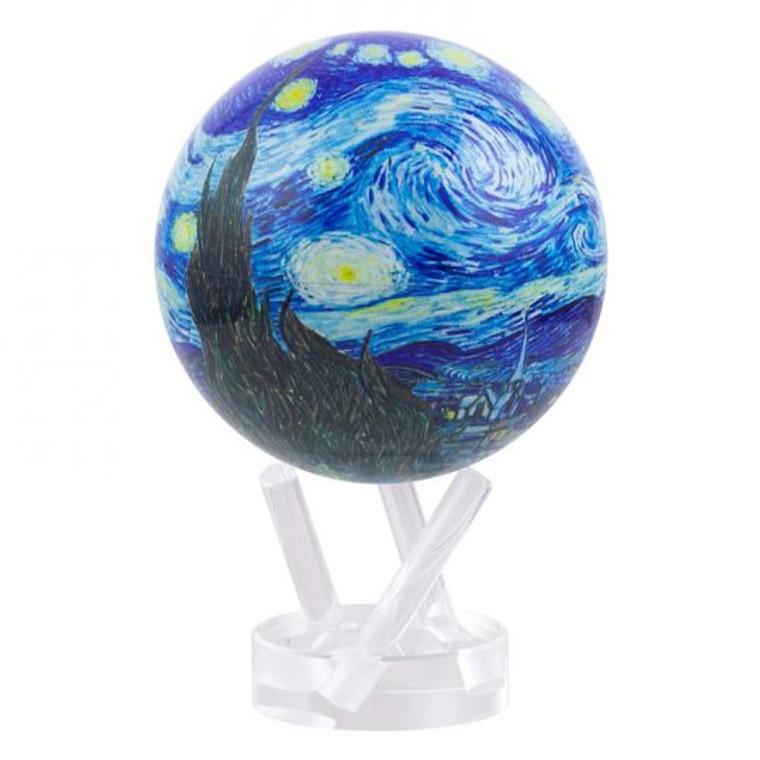 decorative globe with image of van Gogh's Starry Night