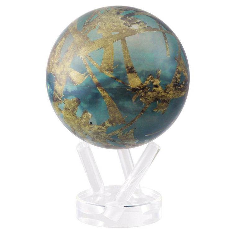 decorative globe featuring satellite image of Titan