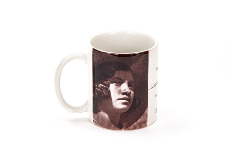 "Luke Swank Mug featuring ""Portrait of a Young Girl""."