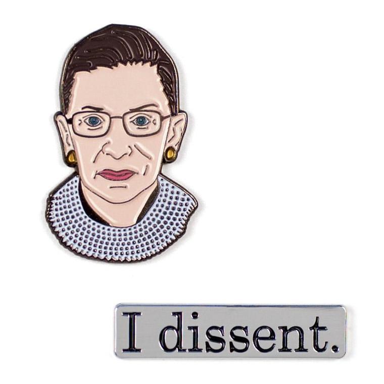 Ruth Bader Ginsburg Pin Set