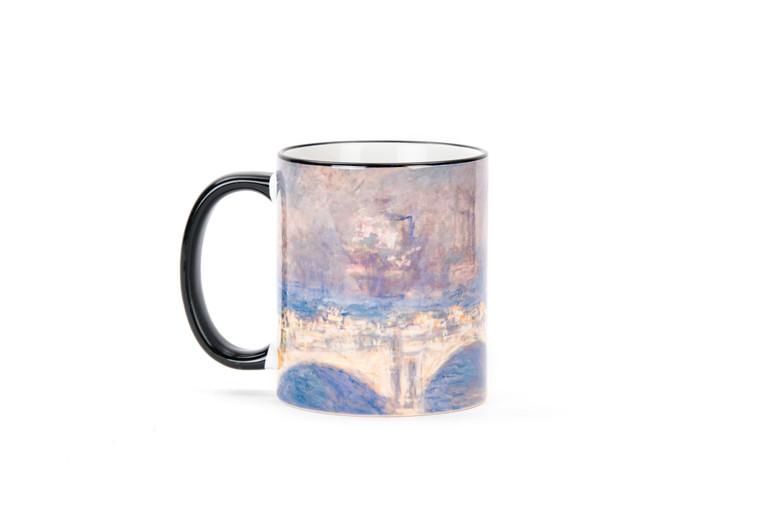ceramic coffee mug with Monet painting