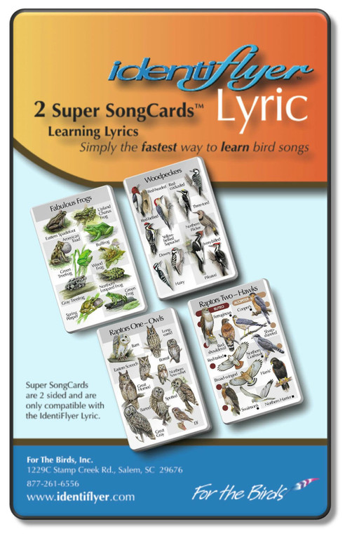 Song cards, 30 bids and 10 frogs to use the Identifyer unit.