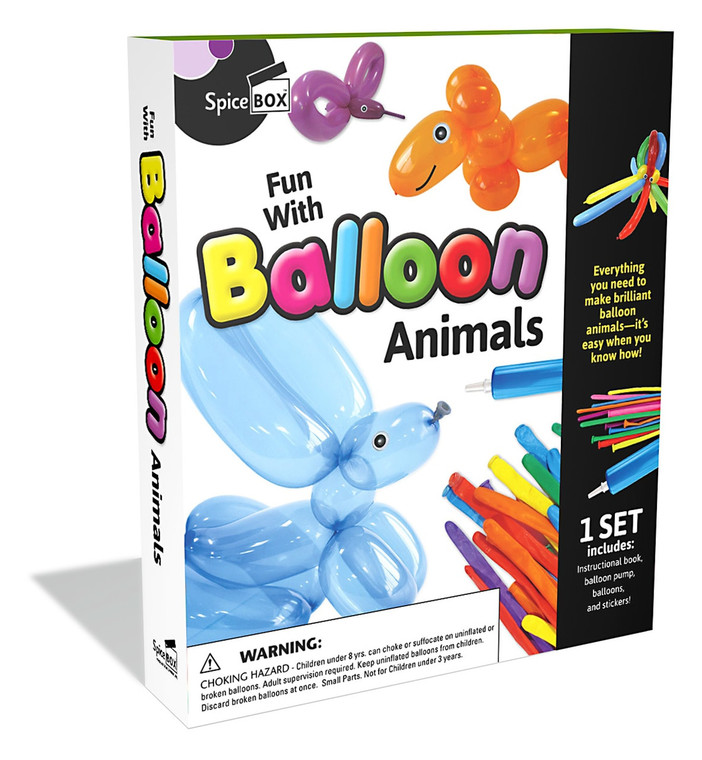 Balloon Animals Kit create 20 different animals ,each kit comes with  a instructions book.