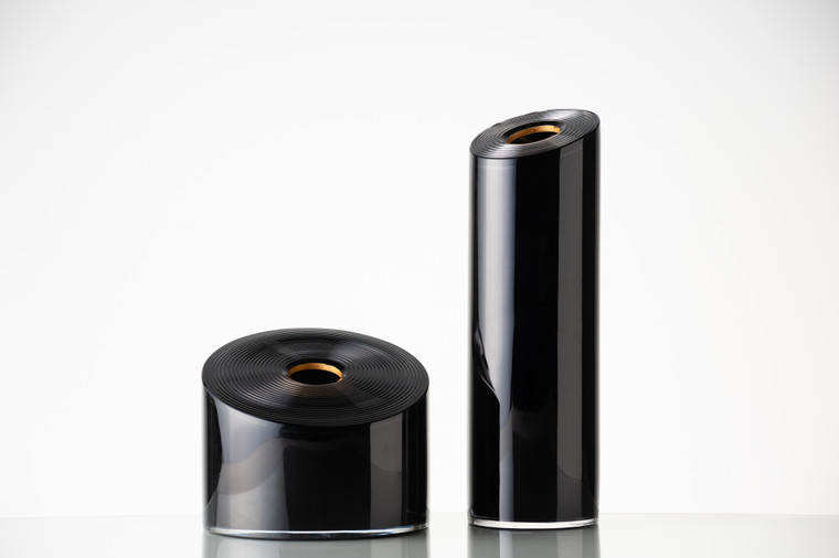 Black Rondel Vessels in Short (Left) or Tall (Right)