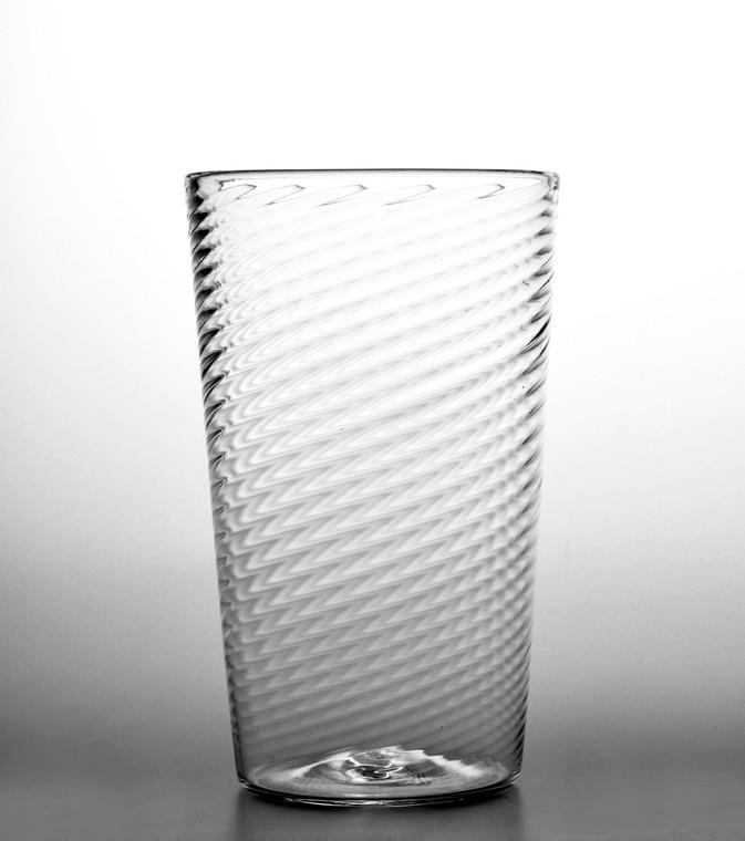 Clear Twist Water Glass