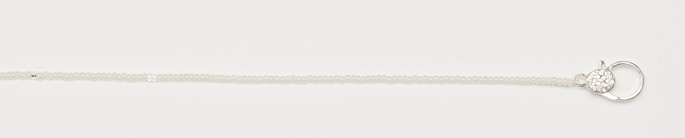 Mask Lanyard Necklace in White Tie