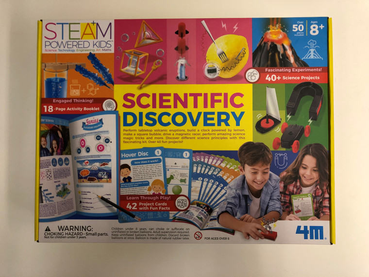 This image shows a Yellow multicolored box with science projects that can be Self-Learned.