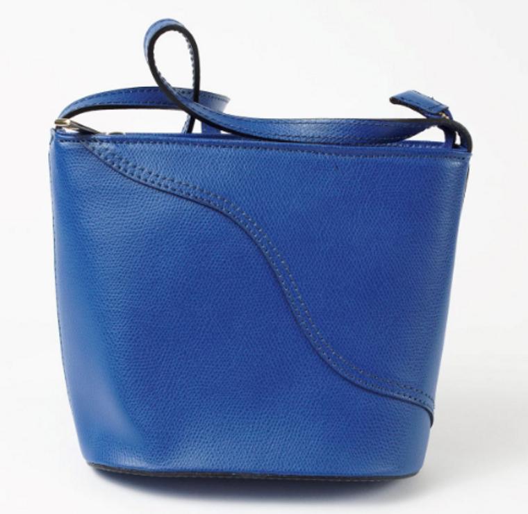 Solid Blue Treviso Crossbody Bag