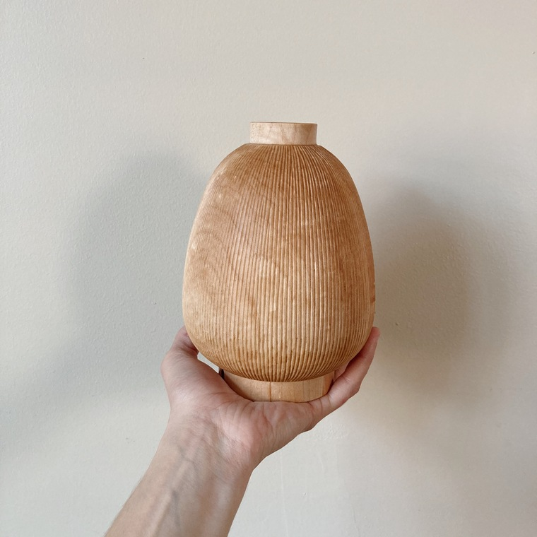 Carved Maple Vase
