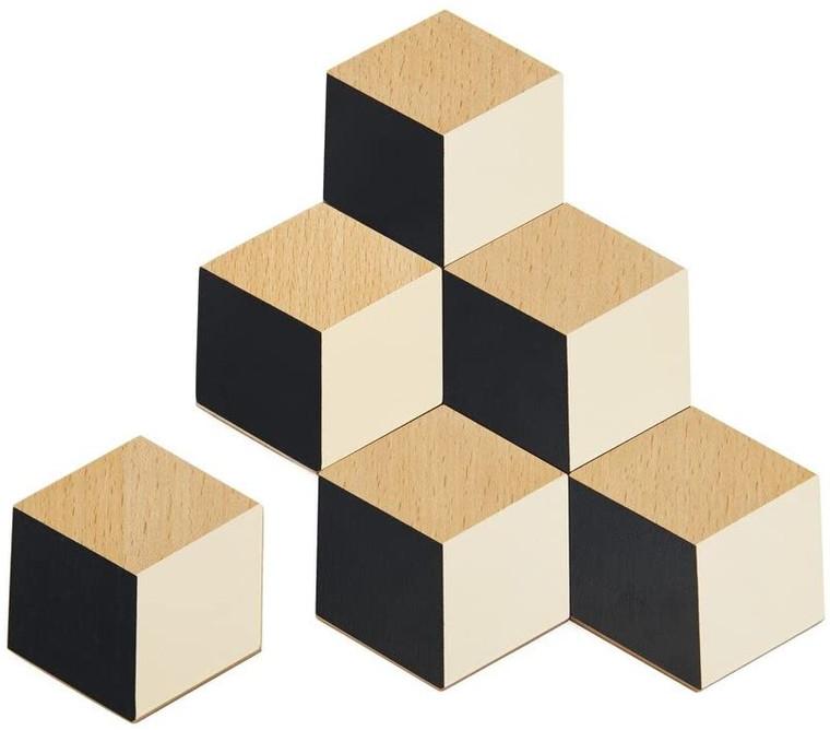 Beige & Black Table Tiles