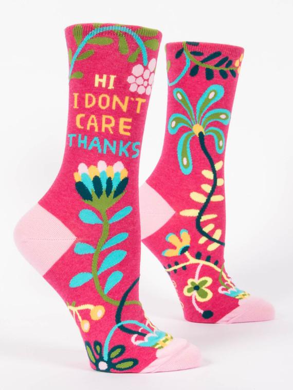 """""""I Don't Care"""" Women's Socks"""