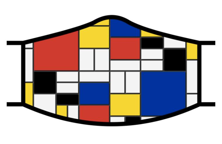 Mondrian Face Mask