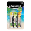 ChapStick® Tropical Paradise with Aloha Coconut, Key Lime & Mango Sunrise in three multi colored 0.12oz  tubes.