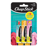 ChapStick® I ❤ Summer Collection with  Peaches & Cream, Sweet Watermelon & Pink Lemonade in multi colored 0.12oz  tubes.
