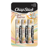 ChapStick® Cake Batter flavor Skin Protectant lip balm in three 0.15-ounce brown tubes.