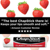 ChapStick®  Classic Strawberry flavor lip balm is an old time favorite and tastes sweet & yummy!