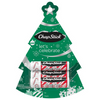 ChapStick® Candy Cane Tree christmas gift with 4 white, red and black striped tubes.