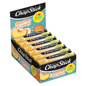 ChapStick® I Love Summer Collection Peaches & Cream lip balm (0.15 ounce, box of 12).