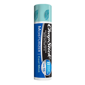 ChapStick® Moisturizer Cool Mint 2in1 lip balm in blue, aqua and white 0.15-ounce tube.