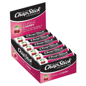 ChapStick® Classic Cherry Flavor Skin Protectant Lip Balm (0.15 ounce, box of 12)