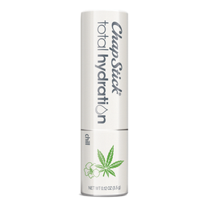 ChapStick® Total Hydration Essential Oils Chill lip balm in white 0.15-ounce tube.