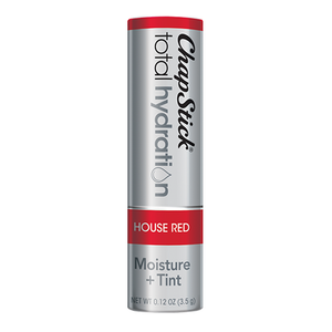 ChapStick® Total Hydration Moisture + Tint House Red lip balm in 0.12oz grey tube.