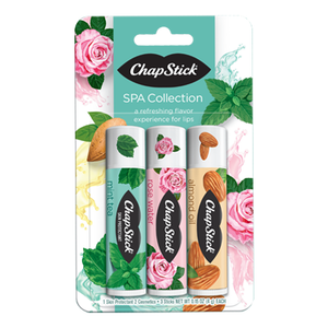 ChapStick® Spa Collection three 0.15oz tubes pack.