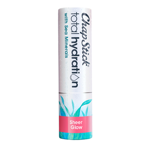 ChapStick® Sea Minerals Sheer Glow Tinted Lip Balm in 0.12 oz Tube.