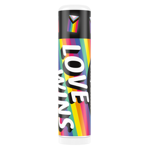 ChapStick® Love Wins Cotton Candy lip balm in 0.15oz rainbow tube.