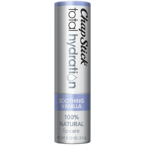 ChapStick Total Hydration 100% Natural Age-Defying Lip Balm Tube, Soothing Vanilla Flavor, 0.12 Oz