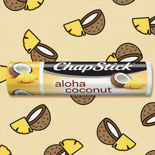 ChapStick® Aloha Coconut flavor,  the perfect mix of coconut & pineapple.